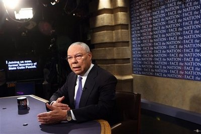 "Powell on CBS's ""Face the Nation"""