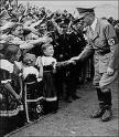 Hitler greets the children