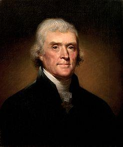 Portrait of Jefferson by Rembrandt Peale 1800